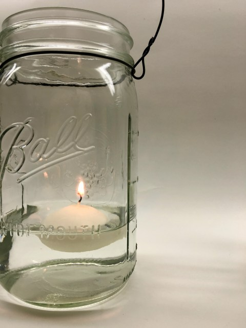 Hanging Mason Jars Candle Light - Simple Sojourns