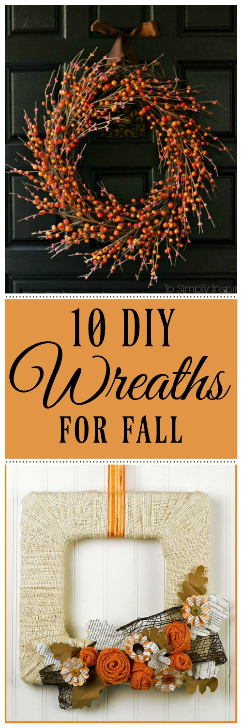 10 DIY Wreaths to make for Fall - Simple Sojourns