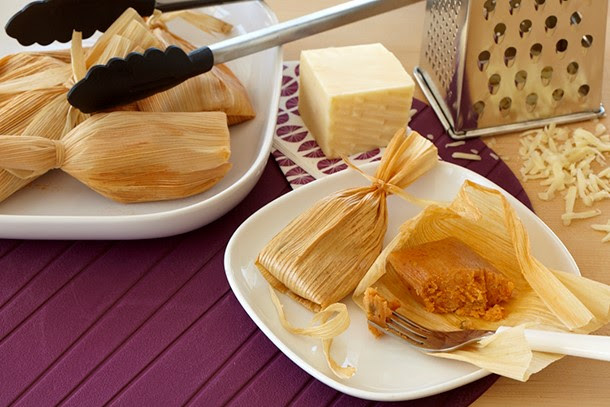 Cheesy Sun-Dried Tomato Tamales - Simple Sojouirns