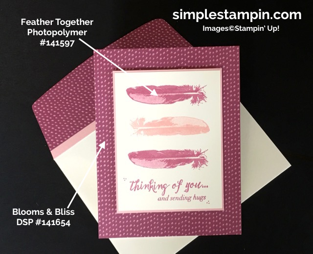 stampin-up-feather-together-photopolymer-stampblooms-bliss-dspclean-simple-thinking-of-you-carddouble-stamping-techniqueproject-details-susan-itell-simplestampin