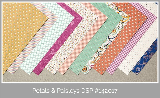 Stampin' Up! Petals & Paisleys DSP, Susan Itell - simplestampin