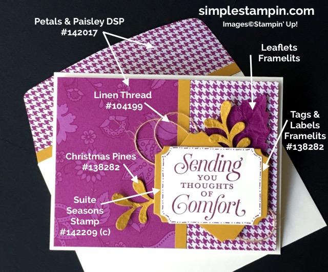 stampin-up-simple-stampin-weekend-challenge-suite-sayingspetals-paisley-dsplinen-threadtags-labels-framelits-leaflet-framelitsproduct-how-tos-susan-itell