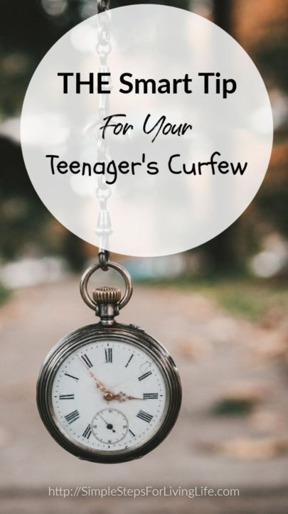 The Smart Tip For Your Teenagers Curfew