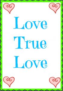 Love True Love Banner