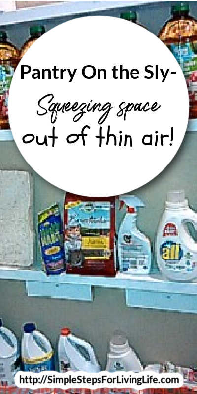 Are you needing more pantry space? Check out how to magically get more storage practically out of thin air with this DIY article.