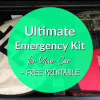 Ultimate Emergency Kit for Your Car + FREE PRINTABLE