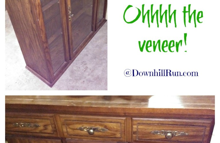 China Hutch Makeover – Never Fear the Veneer!