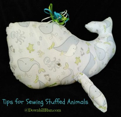 Sewing Tips whale stuffed animal