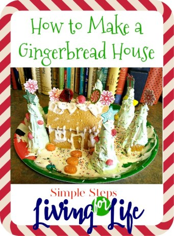 Simple How To guide to making a gingerbread house using graham crackers and royal icing.