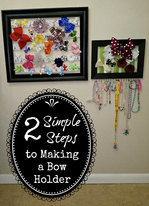 A quick and easy to make bow holder tutorial article.