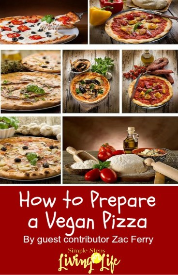 Simple Steps to making a vegan pizza.