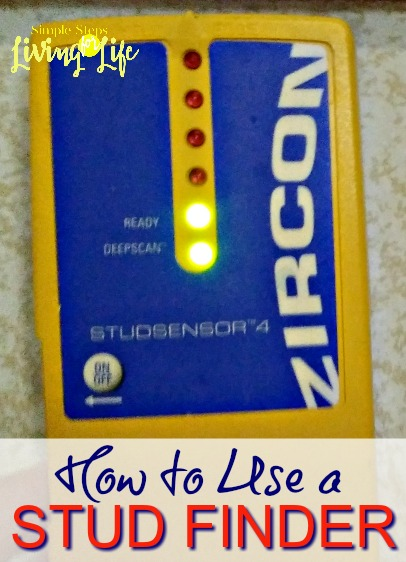 Simple Steps for how to use a stud finder.