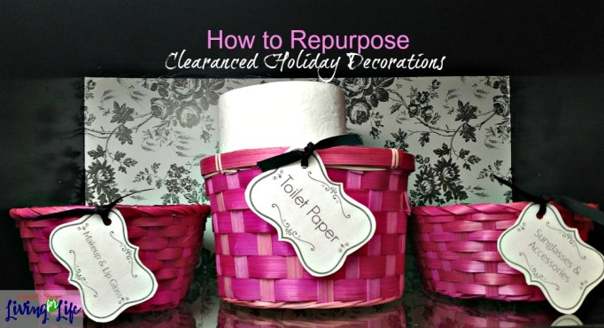 How to repurpose clearanced holiday decorations.