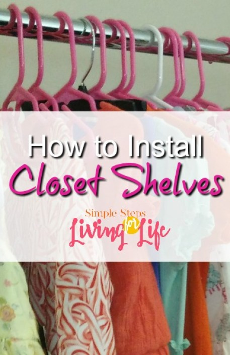 How to install closet shelves