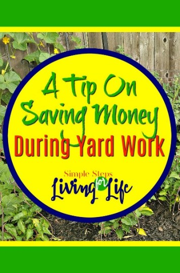 A great tip for saving money on yard work.