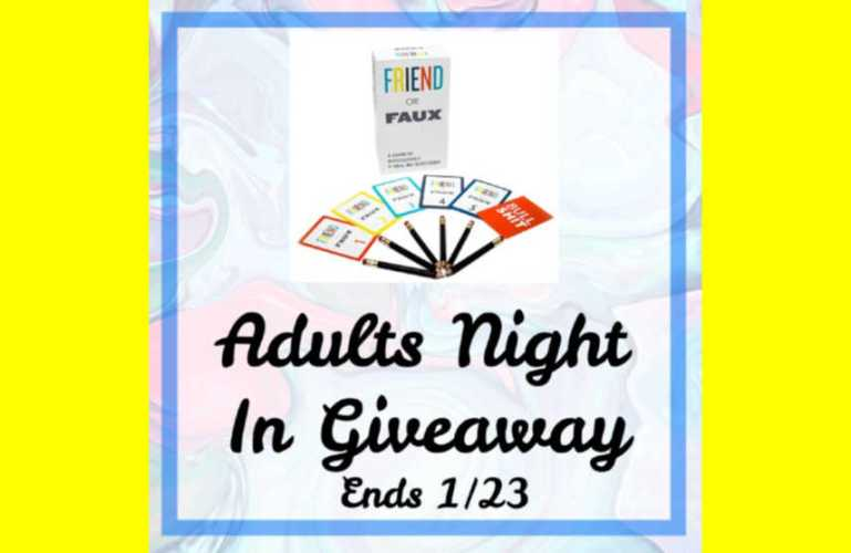 Adults Night In Giveaway Ends 1/23