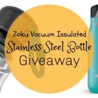 Zuko Stainless Steel Reusable Insulated Bottle Giveaway - Ends 3/29/2020