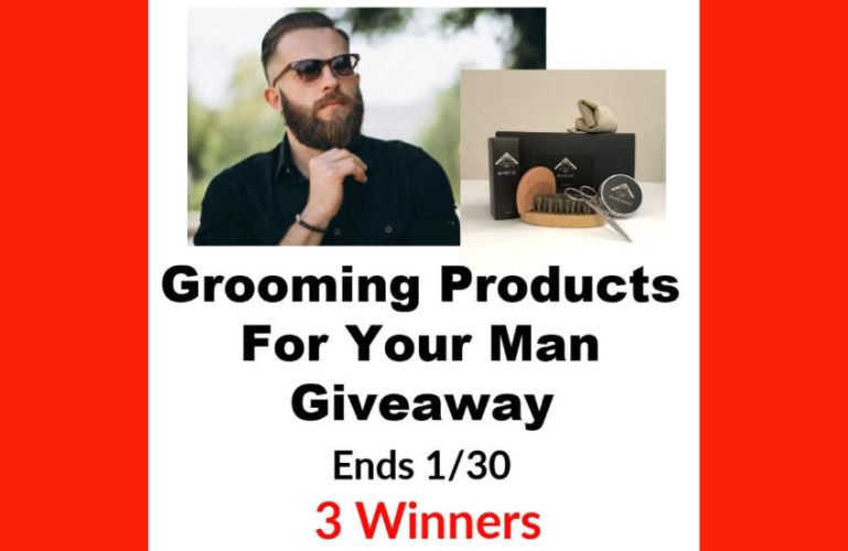Grooming Products For Your Man Giveaway Ends 1/30/2020 – 3 Winners