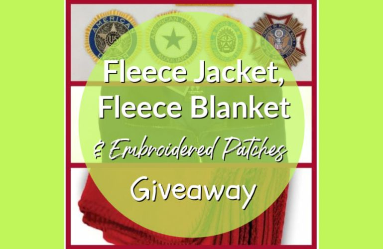 Fleece Jacket, Fleece Blanket and Embroidered Patches Giveaway