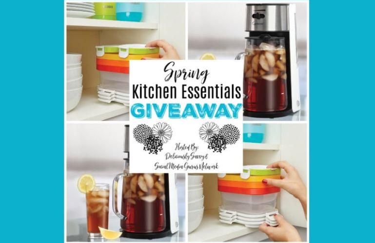Spring Kitchen Essentials Giveaway Ends 4/5/20