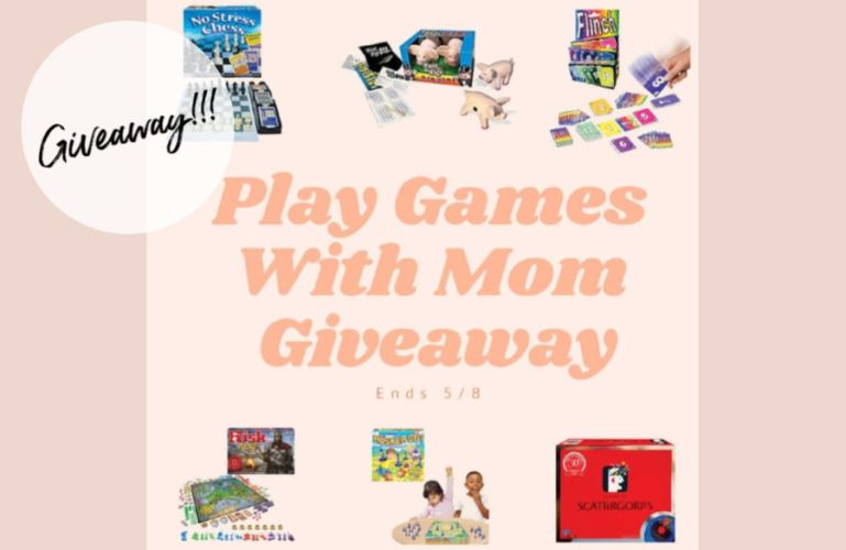 Welcome to Play Games With Mom Giveaway Ends 5/8