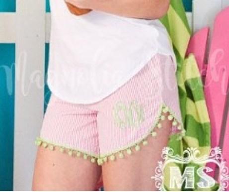 Seer sucker shorts monogrammed