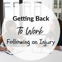 Getting Back to Work Following an Injury