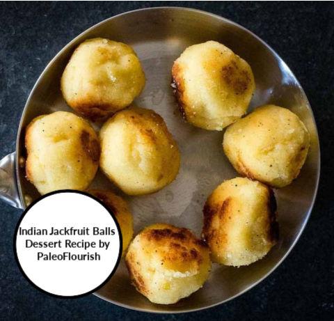 indian jackfruit balls dessert