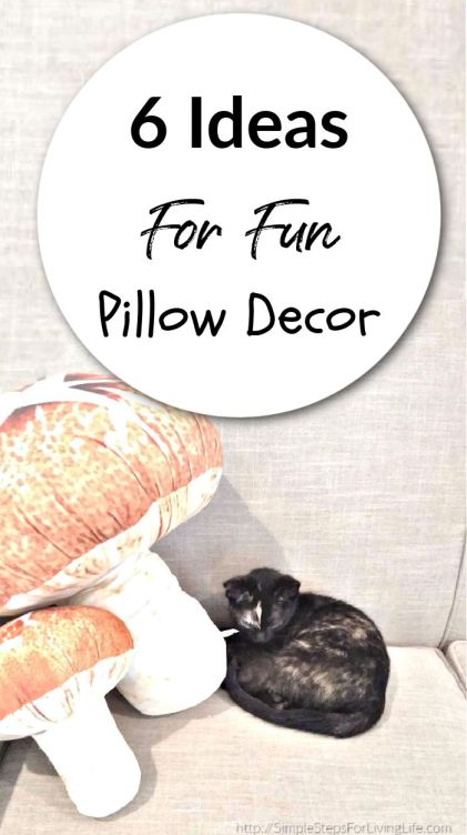 6 ideas for fun pillow decor