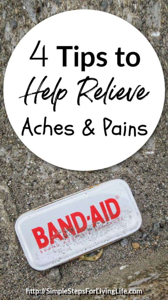 Tips to help relieve aches and pains