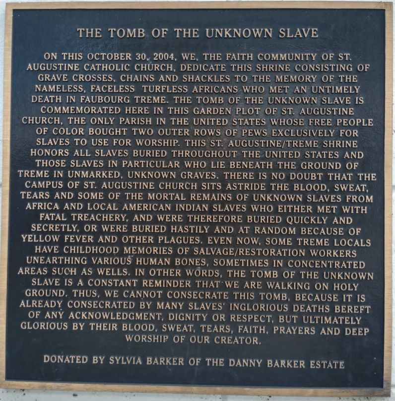 Tomb of the unknown slave
