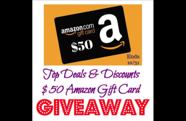 Top Deals & Discounts $50 Amazon Gift Card Giveaway ends 10/31