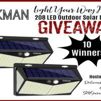 Enkman Outdoor Solar Lights Giveaway (ends 10/31/2020)