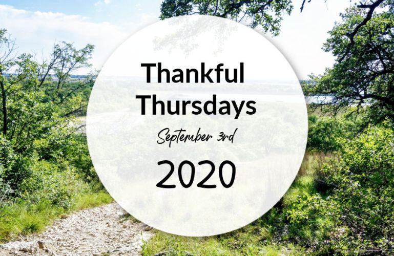 Thankful Thursday September 3 2020