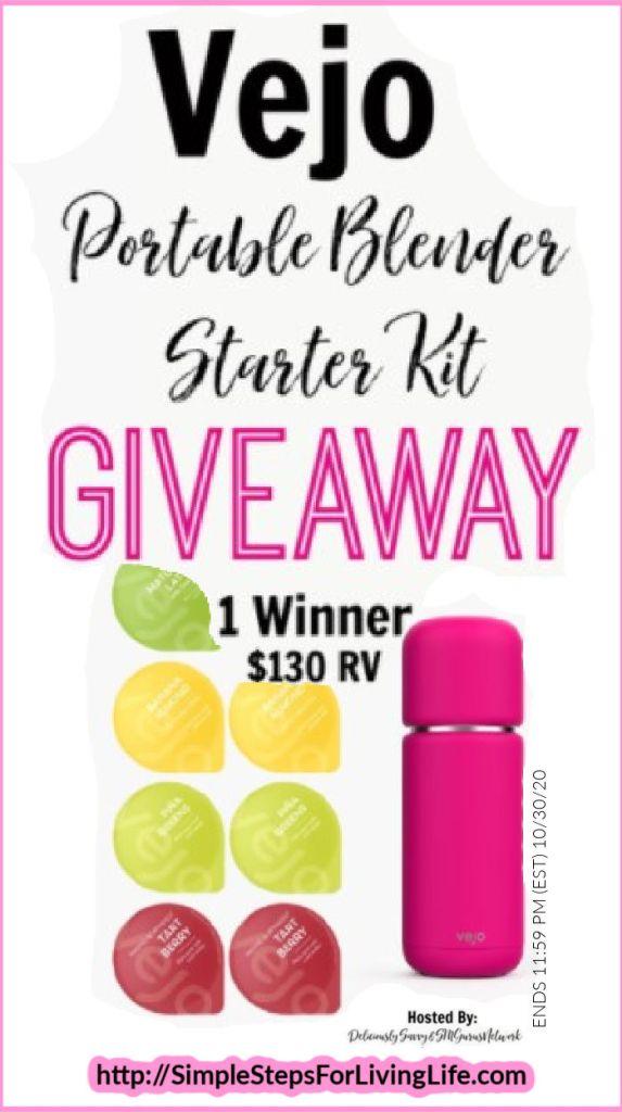vejo portable blender starter kit giveaway