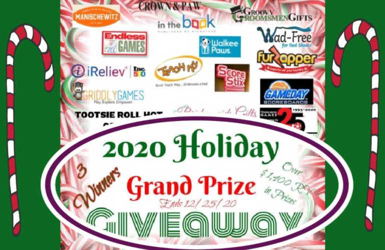 2020 Holiday Grand Prize Giveaway ends 12/25/2020