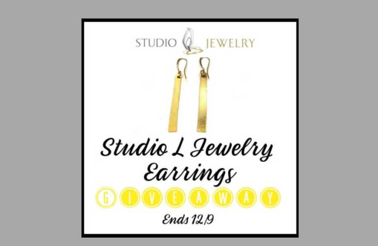 Studio L Jewelry Earrings Giveaway ends 12/9/2020