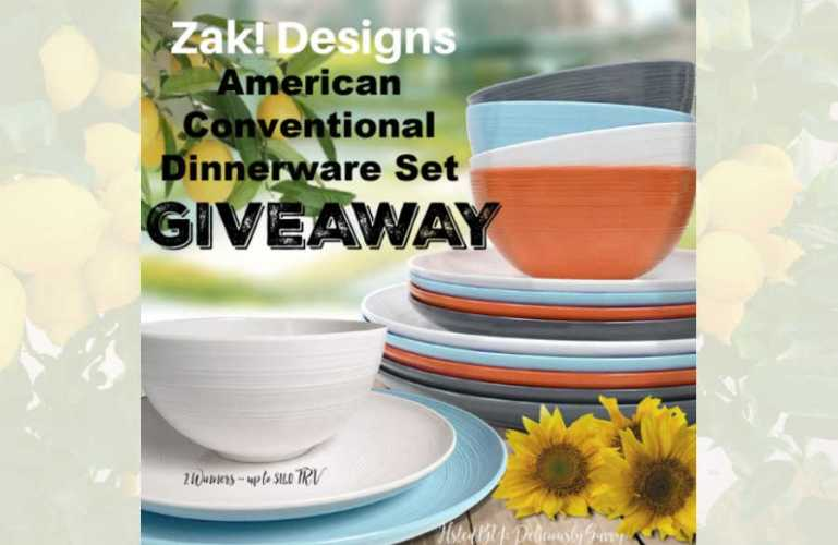 Zak! Designs American Conventional Dinnerware Set Giveaway ends 12/31/2020