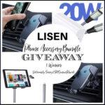 LISEN Phone Accessory Bundle Giveaway ends 1/3/2021