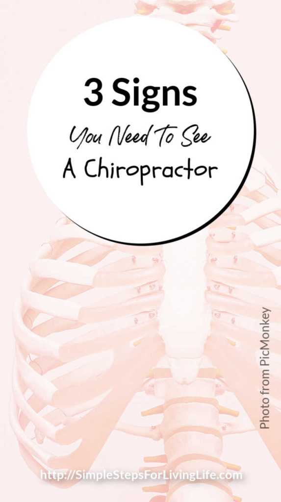 3 Signs You Need To See A Chiropractor