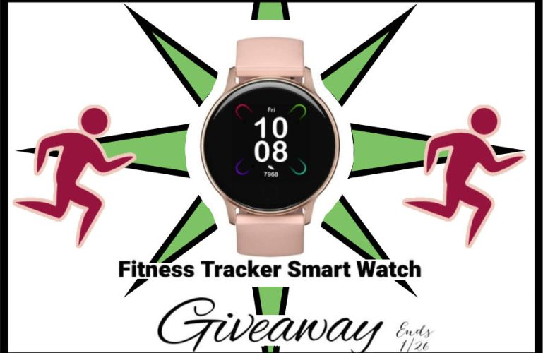 Fitness Tracker Smart Watch Giveaway ends 1/26