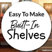 Easy To Make Built-In Shelves