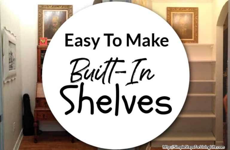 Easy To Make Built-In Shelves