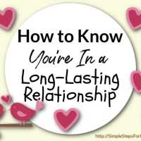 How to Know You're In a Long-Lasting Relationship