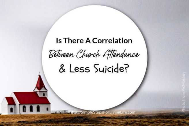is there a correlation between church attendance and less suicide
