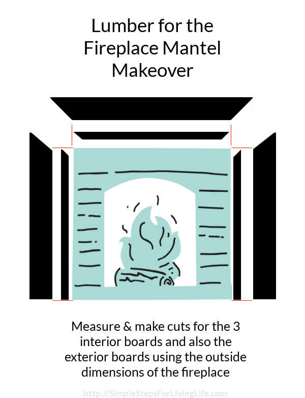 Are you tired of your fireplace mantel? Check out the before and after of this simple and inexpensive makeover.