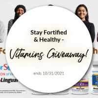 Stay Fortified & Healthy - Vitamins Giveaway! ends 10/31/2021