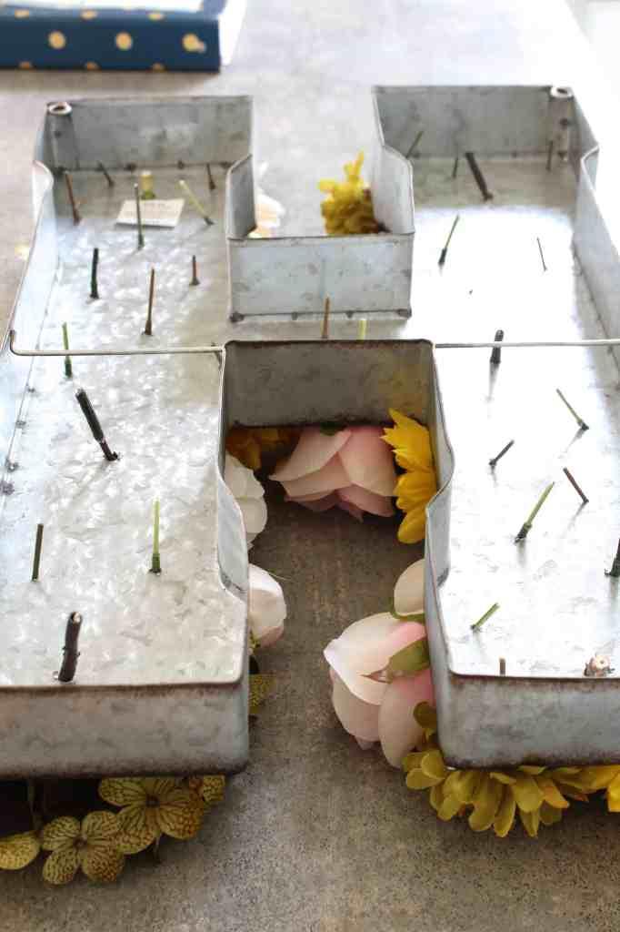 faux flower letter 7