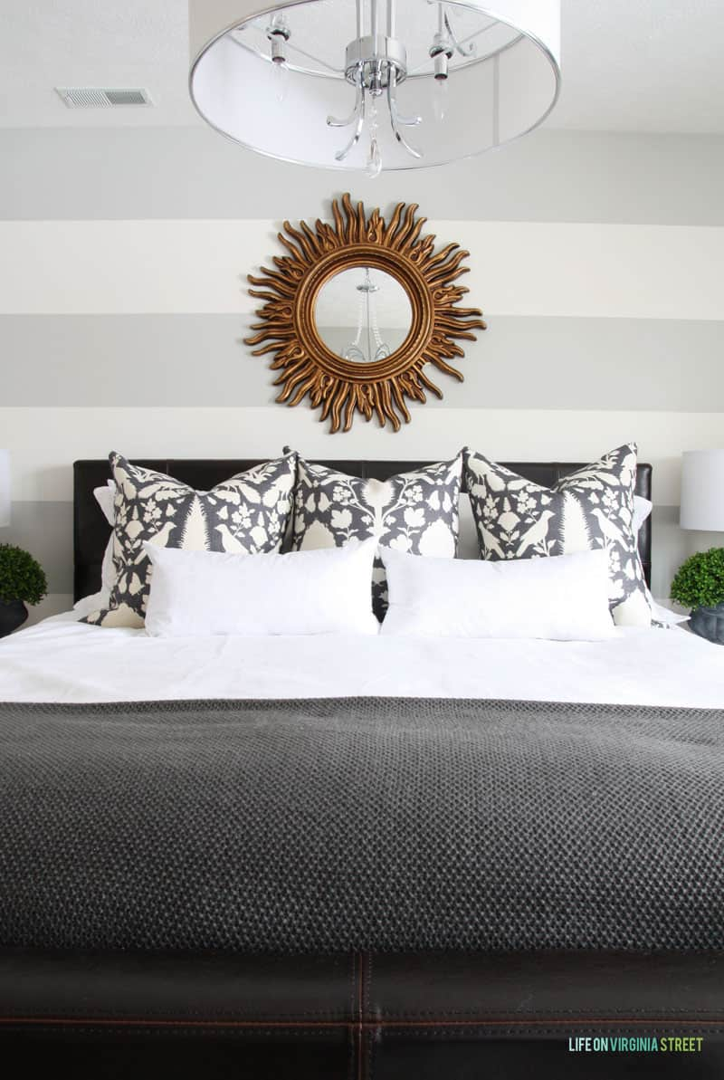 Striped Guest Bedroom - Life On Virginia Street