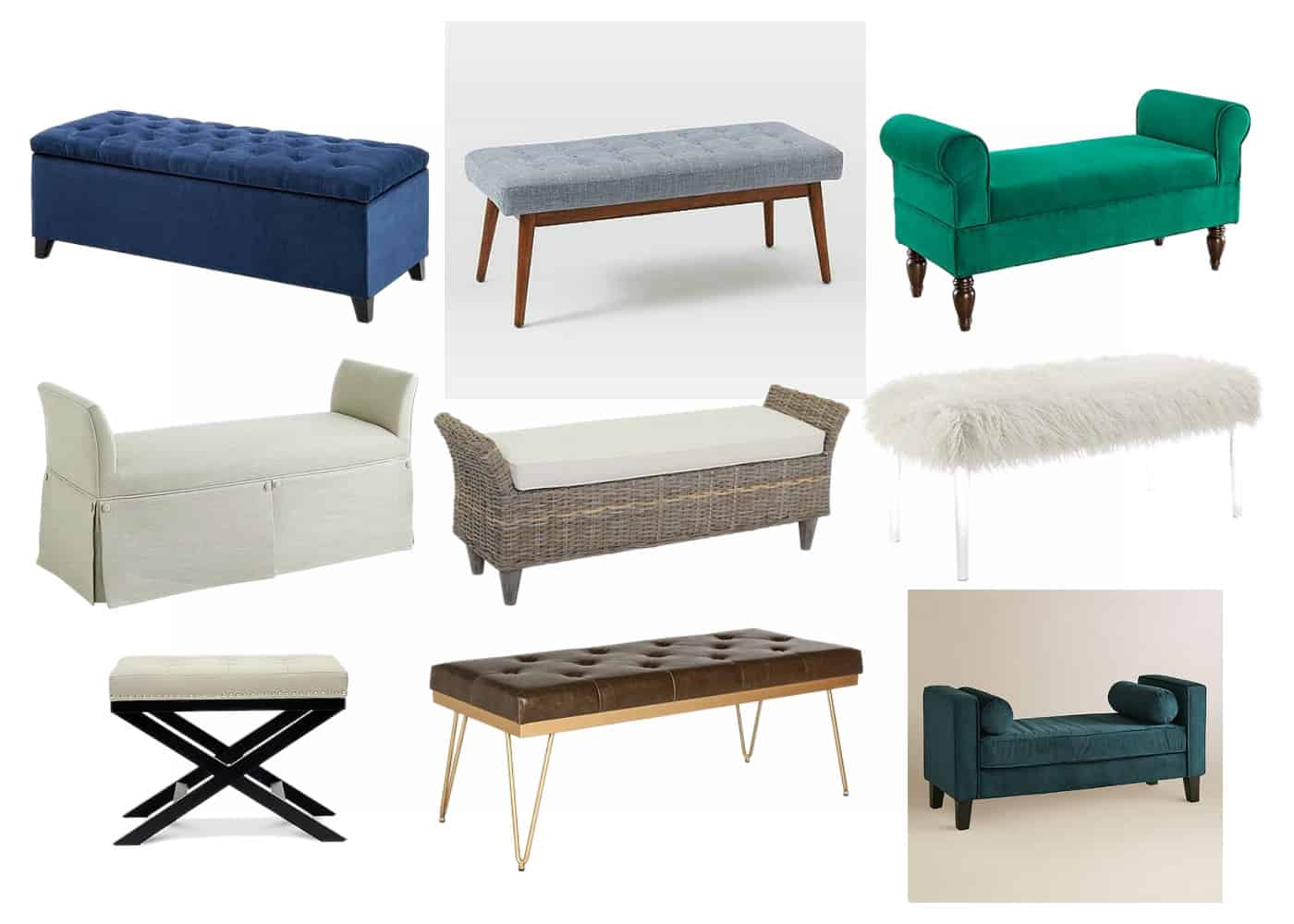 How To Choose The Best Bedroom Bench Simple Stylings